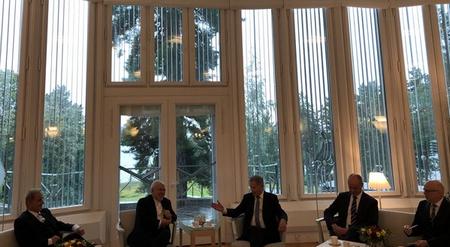 دیدار ظریف با وزیر خارجه فنلاند.